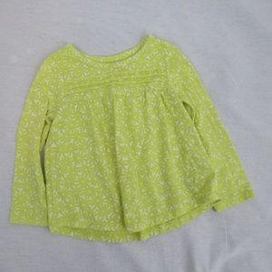 👶 Cat & Jack yellow toddler girls shirt